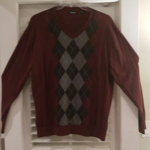 Claiborne Vneck Argyle Sweater XXL